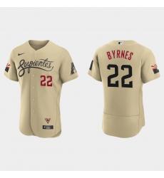 Arizona Diamondbacks 22 Eric Byrnes Men Nike 2021 City Connect Authentic MLB Jersey Gold