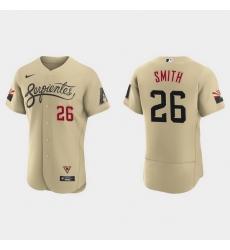 Arizona Diamondbacks 26 Pavin Smith Men Nike 2021 City Connect Authentic MLB Jersey Gold