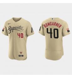 Arizona Diamondbacks 40 Madison Bumgarner Men Nike 2021 City Connect Authentic MLB Jersey Gold