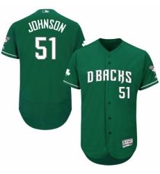 Men Majestic Arizona Diamondbacks 51 Randy Johnson Green Celtic Flexbase Authentic Collection MLB Jersey
