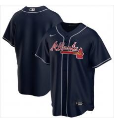 Men Atlanta Braves Nike Navy Blue Blank Jersey