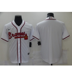 Men Nike Atlanta Braves White Blank Stitched MLB Jersey