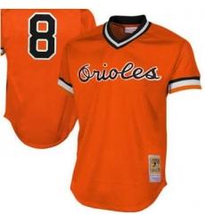 Men Baltimore Orioles 8 Pull over orange jersey