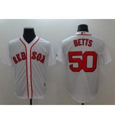 Men Boston Red Sox 50 Betts White Game 2021 MLB Jersey