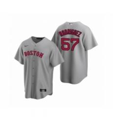 Men Boston Red Sox #57 Eduardo Rodriguez Nike Gray Replica Road Jersey