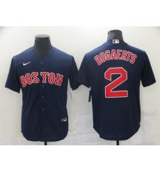 Men Boston Red Sox Xander Bogaerts 2 Navy Blue Baseball Jersey