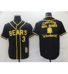 Men Chicago Bears 3 Film Bail Bonds Let Freedom Ring Black Base Ball Jersey