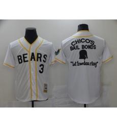Men Chicago Bears 3 Film Bail Bonds Let Freedom Ring White Base Ball Jersey