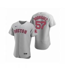Men's Boston Red Sox #57 Eduardo Rodriguez Nike Gray Authentic Road Jersey