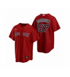 Men's Boston Red Sox #57 Eduardo Rodriguez Nike Red Replica Alternate Jersey