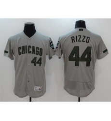 Men Chicago Cubs 44 Rizzo Grey Elite 2021 MLB Jerseys