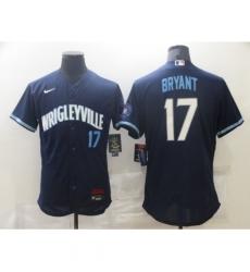 Men's Nike Chicago Cubs #17 Kris Bryant Navy Royal Alternate Stitched Jersey