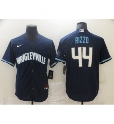 Men's Nike Chicago Cubs #44 Anthony Rizzo Navy Royal Alternate Stitched Baseball Jersey