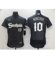 Chicago White Sox 10 Yoan Moncada Black 2021 City Connect Flexbase Jersey