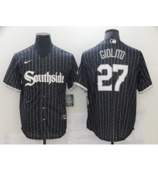 Chicago White Sox 27 Lucas Giolito Black 2021 City Connect Cool Base Jersey