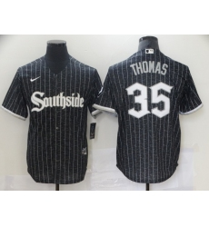 Chicago White Sox 35 Frank Thomas Black 2021 City Connect Cool Base Jersey