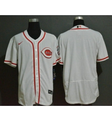 Men Cincinnati Reds Blank White Stitched MLB Flex Base Nike Jersey