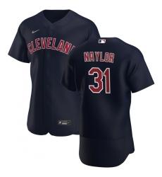 Men Cleveland Indians 31 Josh Naylor Men Nike Navy Alternate 2020 Flex Base Player MLB Jersey