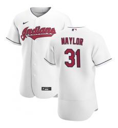 Men Cleveland Indians 31 Josh Naylor Men Nike White Home 2020 Flex Base Team MLB Jersey