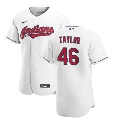 Men Cleveland Indians 46 Beau Taylor Men Nike White Home 2020 Flex Base Team MLB Jersey