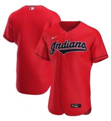 Men Cleveland Indians Men Nike Red Alternate 2020 Flex Base Official Team MLB Jersey