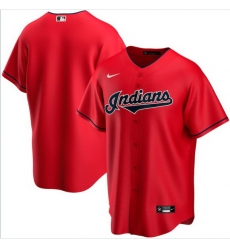 Men Cleveland Indians Nike Red Blank Jersey