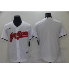 Men Nike Cleveland Indians Blank White Baseball Stitched MLB Jersey