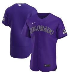 Men Colorado Rockies Men Nike Purple Alternate 2020 Flex Base Team MLB Jersey