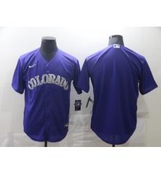 Men Colorado Rockies Nike Purple Blank Jersey II