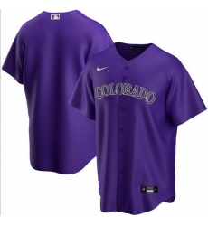 Men Colorado Rockies Nike Purple Blank Jersey