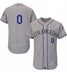 Mens Majestic Colorado Rockies 0 Adam Ottavino Grey Road Flex Base Authentic Collection MLB Jersey