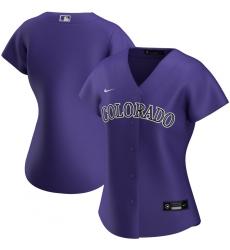 Colorado Rockies Nike Women Alternate 2020 MLB Team Jersey Purple