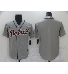 Men Nike Detroit Tigers Blank Grey Baseball Stitched MLB Jersey