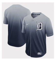 Mens Nike Detroit Tigers Blank Navy Fade Authentic Baseball Jersey