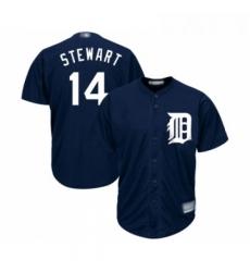 Youth Detroit Tigers 14 Christin Stewart Replica Navy Blue Alternate Cool Base Baseball Jersey