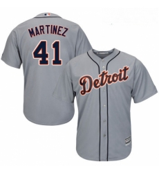 Youth Majestic Detroit Tigers 41 Victor Martinez Authentic Grey Road Cool Base MLB Jersey