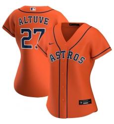 Houston Astros 27 Jose Altuve Nike Women Alternate 2020 MLB Player Jersey Orange