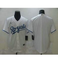 Men Kansas City Royals Blank White Stitched MLB Cool Base Nike Jersey