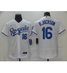 Men Nike Kansas City Royals Bo Jackson 16 White Alternate Stitched Baseball Jersey