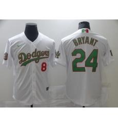 Men Los Angeles Dodgers Mexican Kobe Bryant 8 24 World Series White MLB Jersey