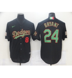 Men Los Angeles Dodgers Mexican Koby Bryant 8 24 World Series Black MLB Jersey