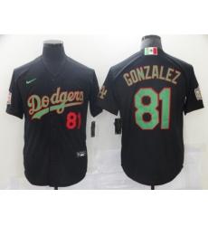 Men Los Angeles Dodgers MexicanLuis Gonzalez 81 Black World Series White MLB Jersey
