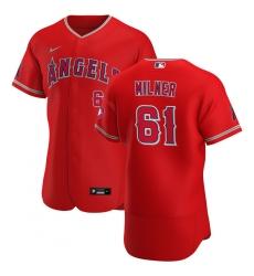 Men Los Angeles Angels 61 Hoby Milner Men Nike Red Alternate 2020 Flex Base Player MLB Jersey