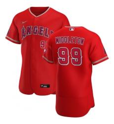 Men Los Angeles Angels 99 Keynan Middleton Men Nike Red Alternate 2020 Flex Base Player MLB Jersey