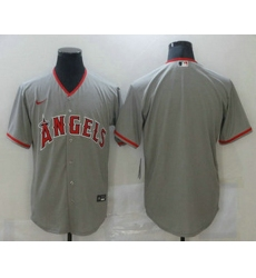 Men Los Angeles Angels Blank Grey Stitched MLB Cool Base Nike Jersey