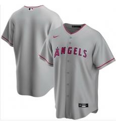 Men Los Angeles Angels Nike Gray Blank Jersey