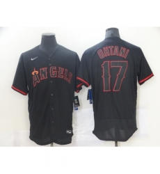 Men's Nike Los Angeles Angels of Anaheim #17 Shohei Ohtani Showtime Authentic Black Jersey