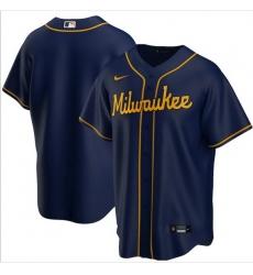 Men Milwaukee Brewers Nike Blue Blank Jersey