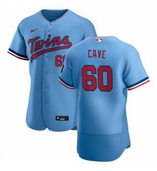 Men Minnesota Twins 60 Jake Cave Men Nike Light Blue Alternate 2020 Flex Base Team MLB Jersey