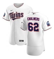 Men Minnesota Twins 62 Dakota Chalmers Men Nike White Home 2020 60th Season Flex Base Team MLB Jersey